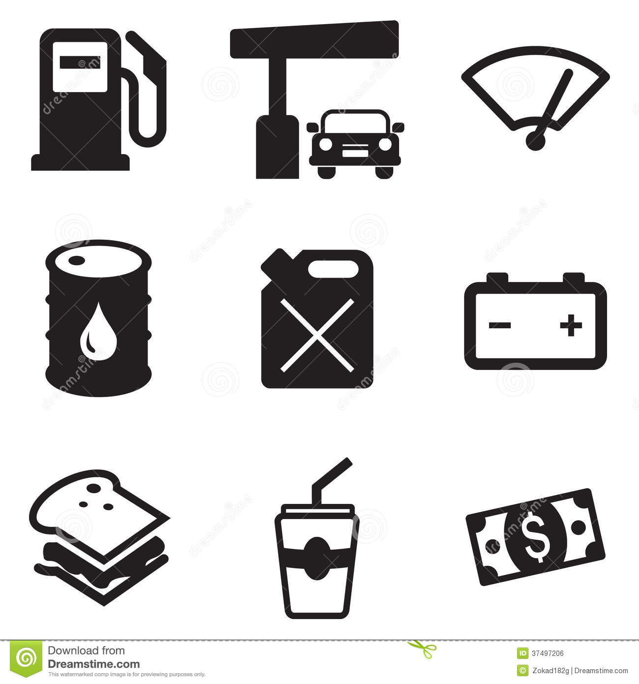 Gas Pump Icons Stock Vector Image Of Odometer Building