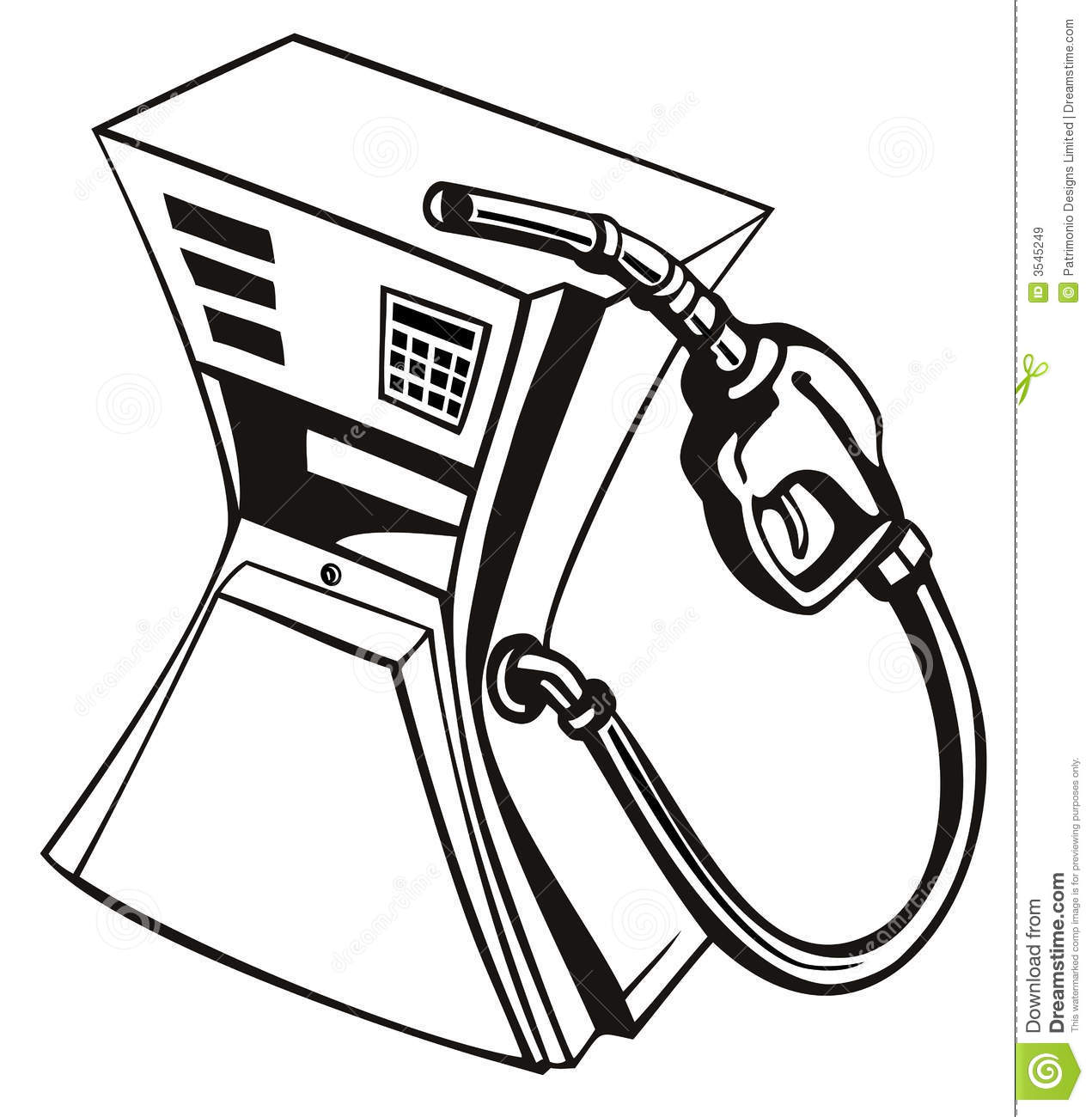 Gas Pump Squeezed Royalty Free Stock Images