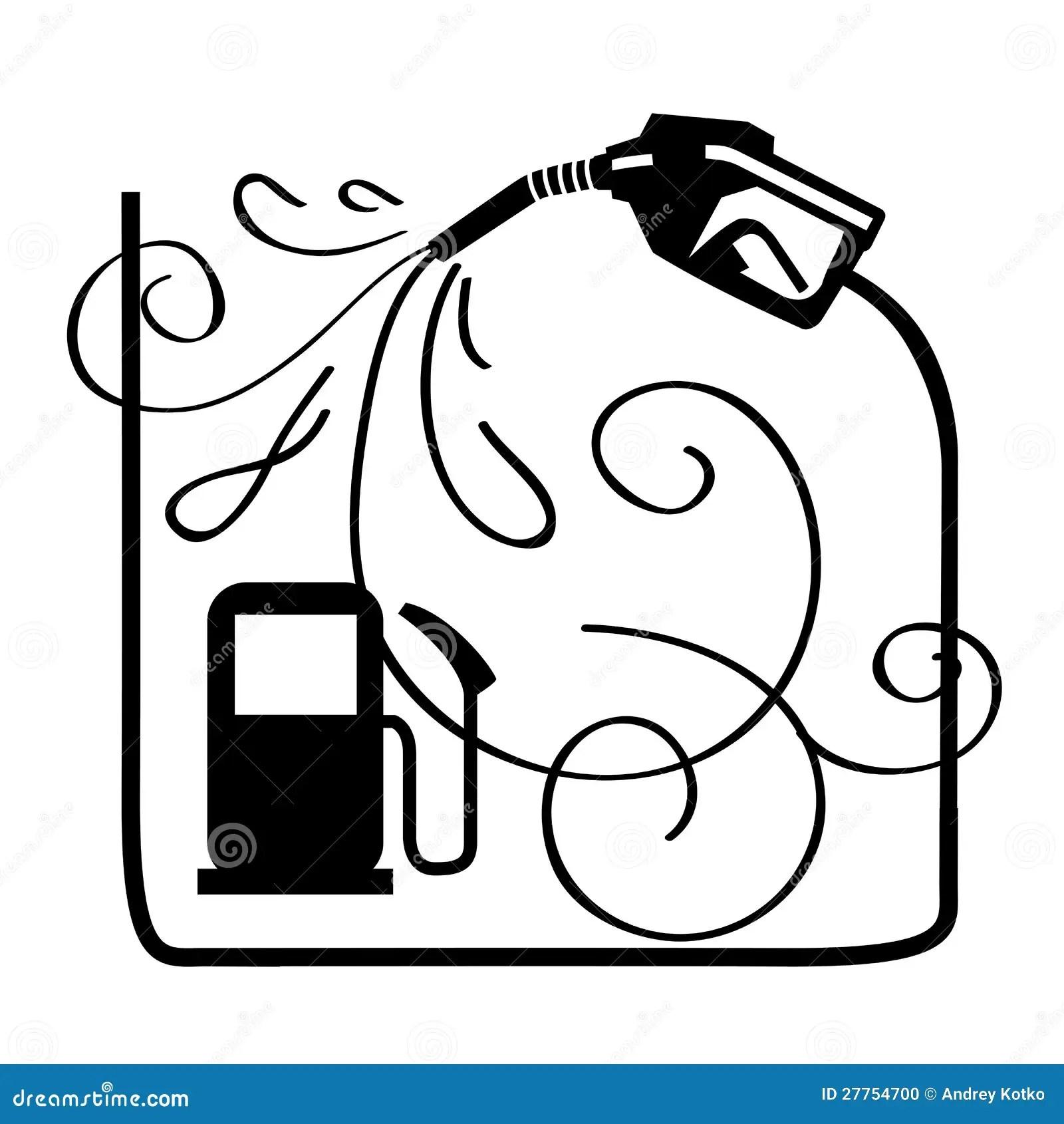 Petroleum Minimal Thin Line Icons Set Royalty Free Cartoon