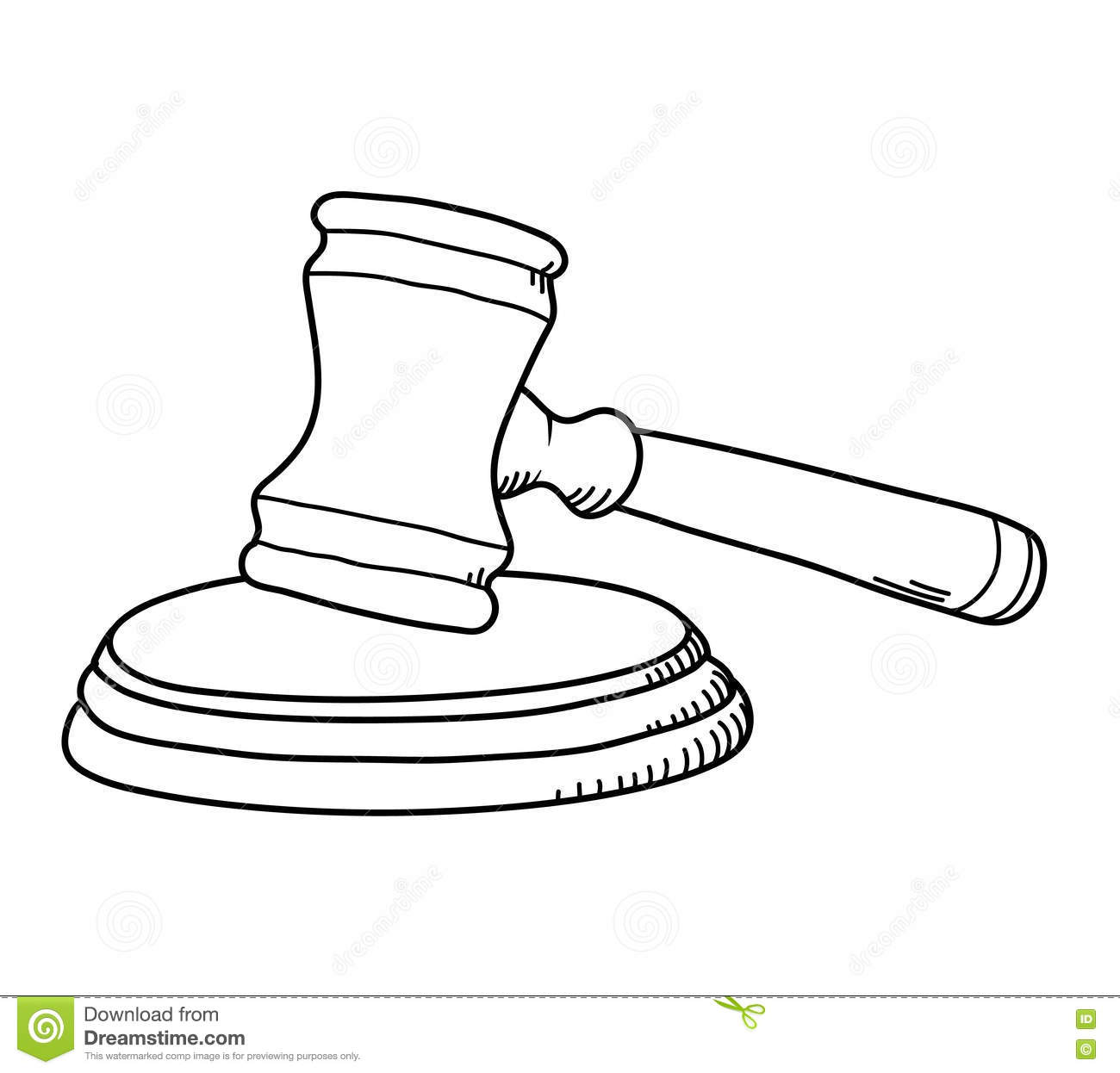 Gavel Law Hammer Stock Vector Image Of Serve Illegal