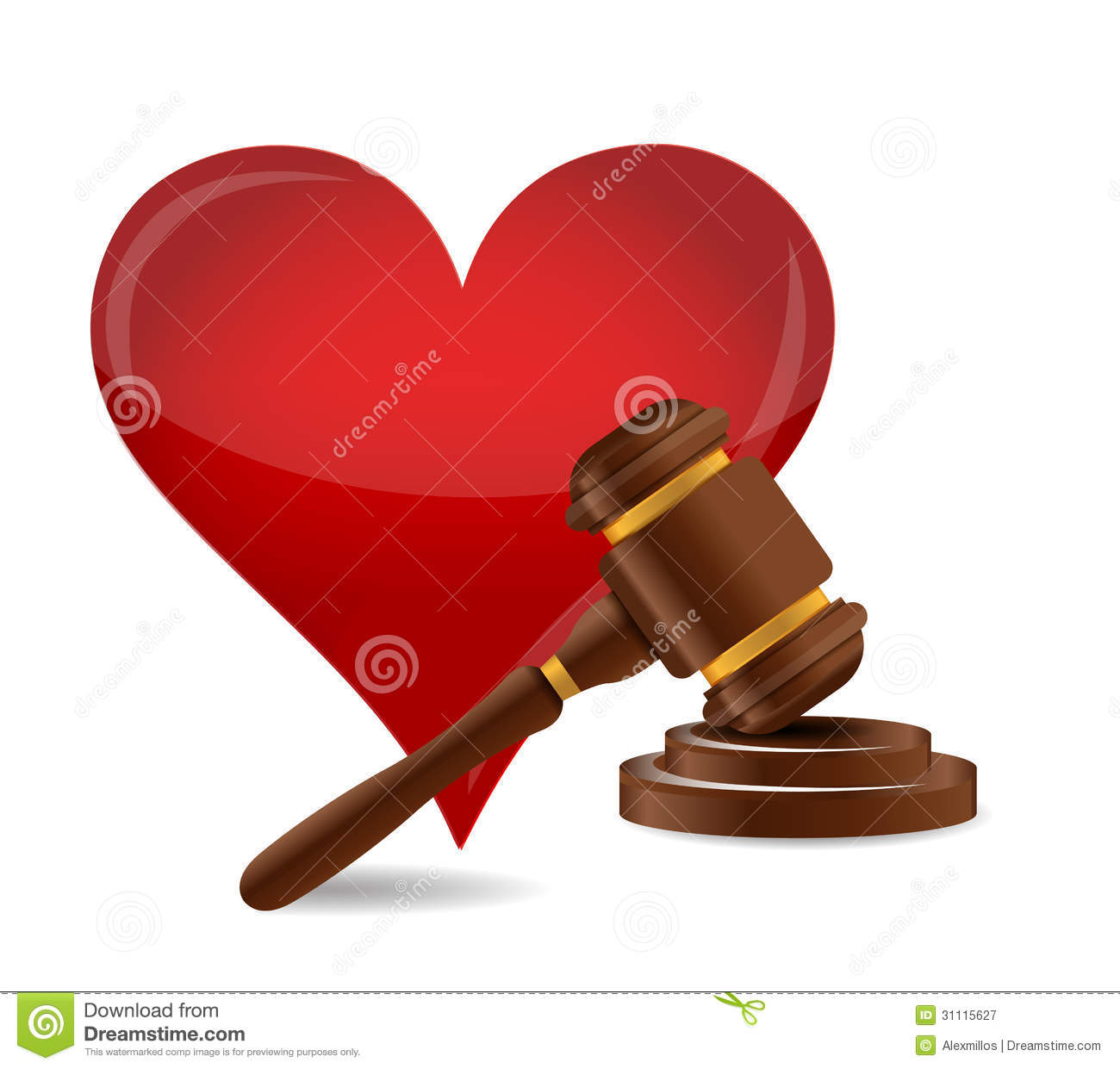 Gavel Marriage Concept Illustration Royalty Free Stock
