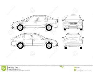 Generic Saloon Car Diagram Royalty Free Stock Photography  Image: 1159987