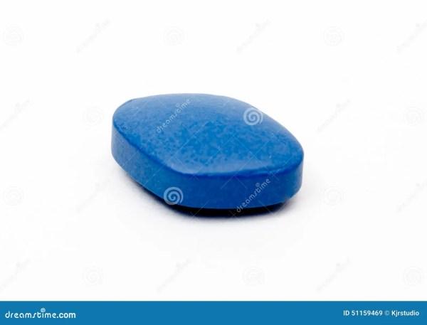 Generic Viagra Blue Pill Isolated. Stock Photo - Image ...