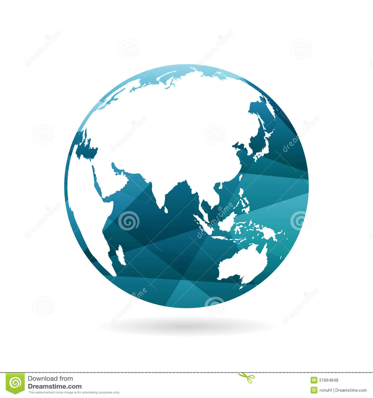 Geometric Abstract Earth Globe Sphere Concept Illustration