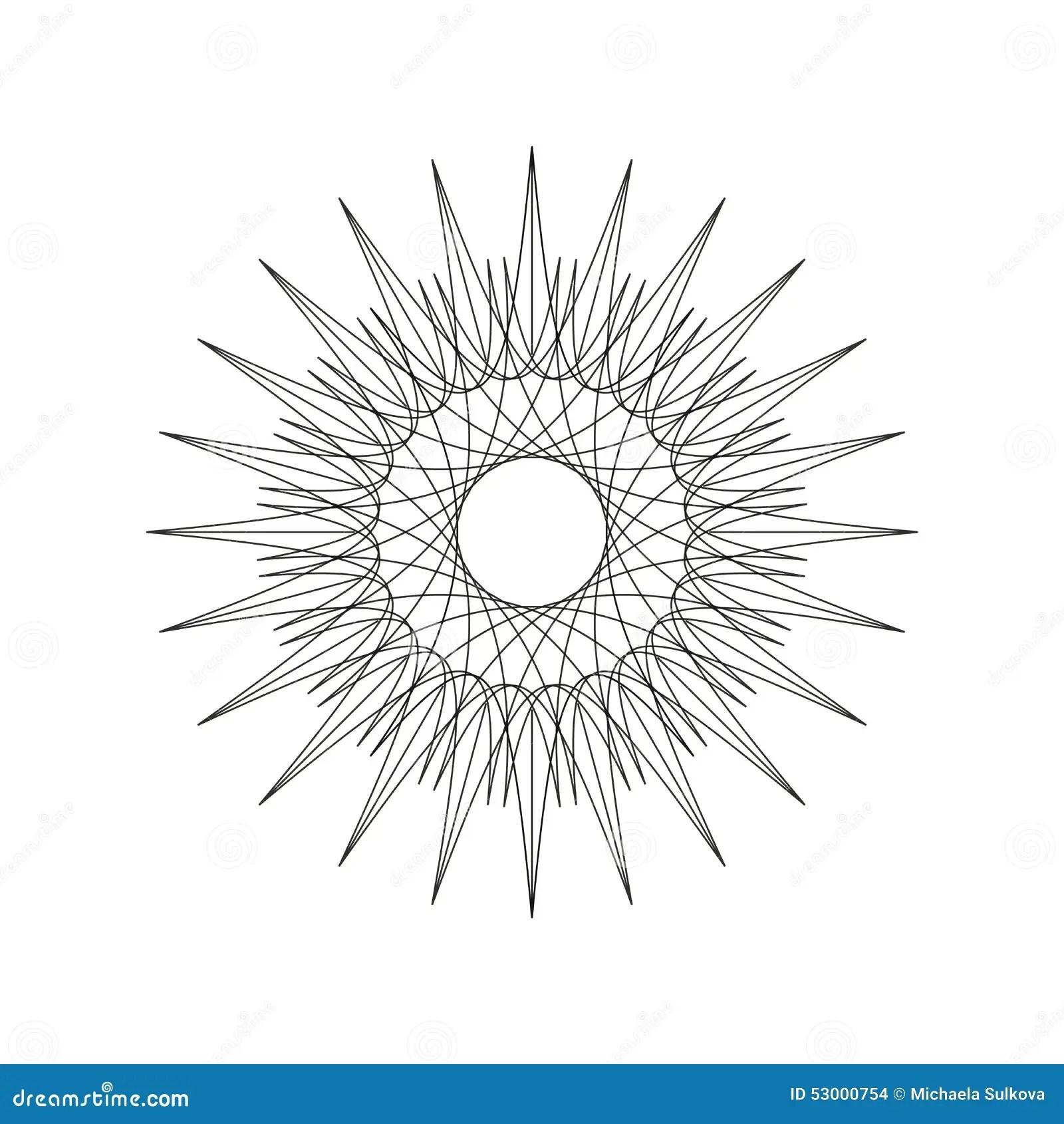 Geometric Decoration Shape Ornament Mandala Line Design
