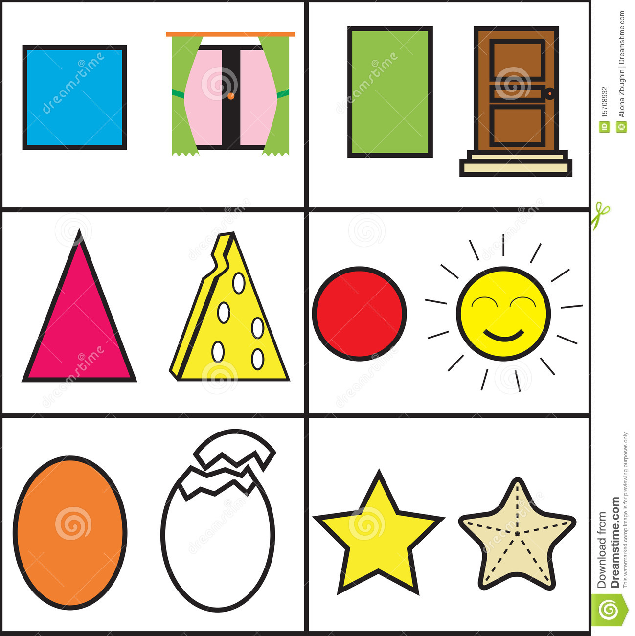 Geometric For Kids Stock Photography