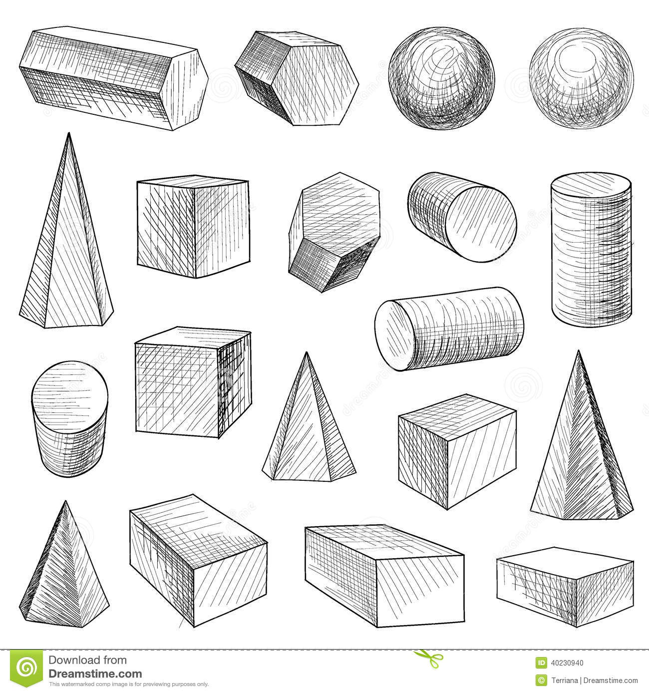 Geometric Shapes Set Stock Vector Illustration Of