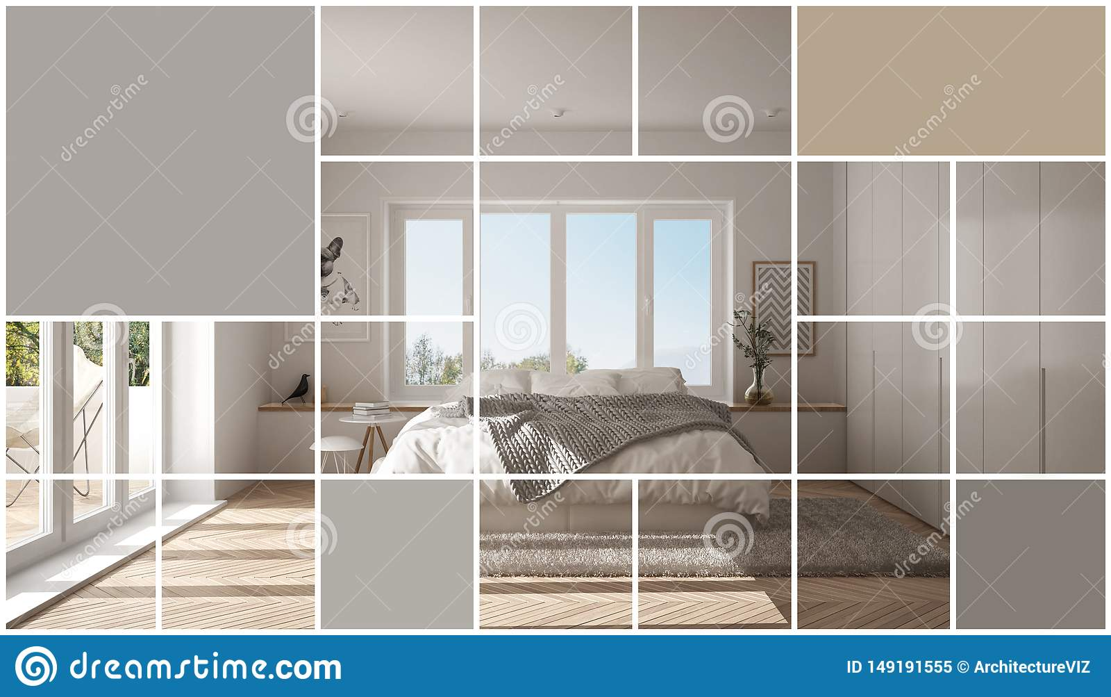 Geometric Square Mosaic Graphic Effect With Copy Space For