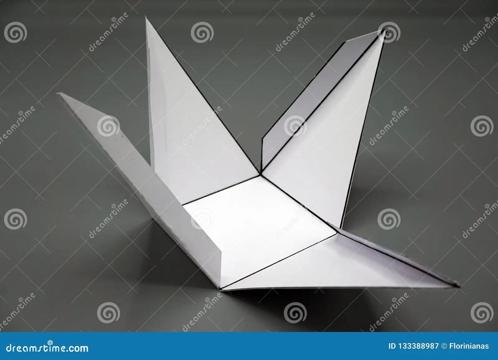 Geometry Net Of Rectangular Pyramid Stock Image
