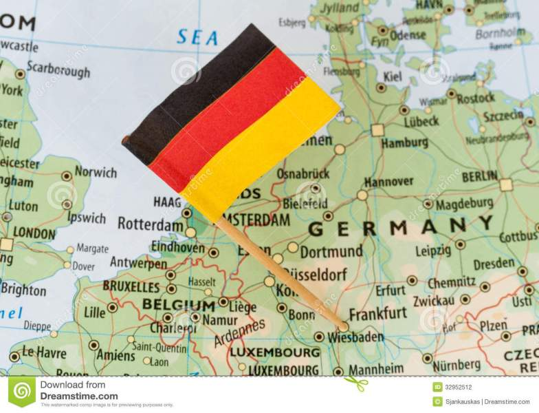 Germany map flag stock photo  Image of location  goal   32952512 Germany map flag
