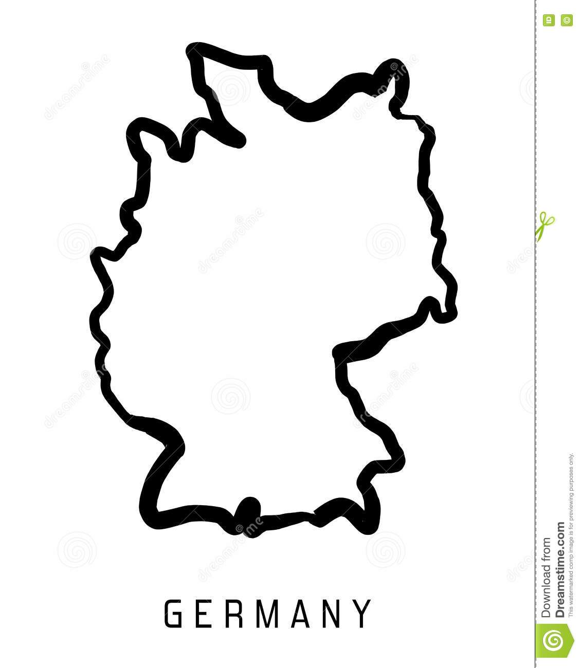 Germany Outline Map Stock Vector Illustration Of Symbolic