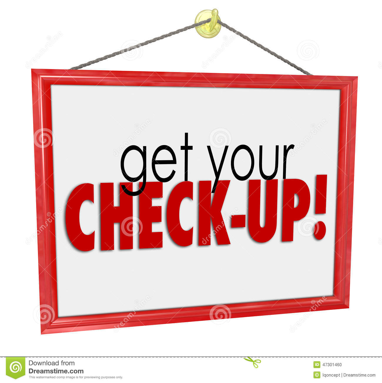 Get Your Check Up Doctor Office Sign Physical Exam