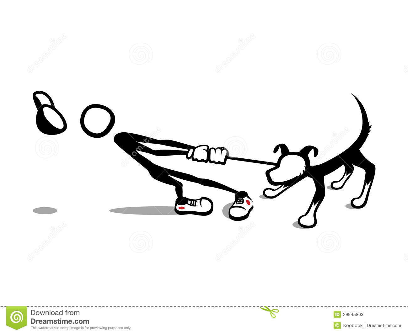 Stick Man Reluctant Dog Stock Photos