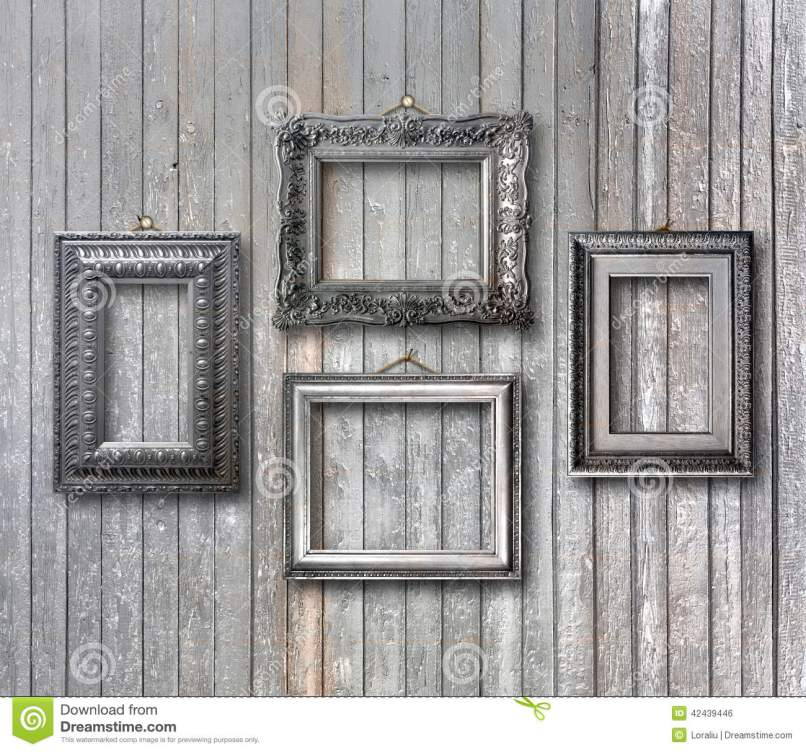 Vintage Picture Frames On Wall Frameswalls