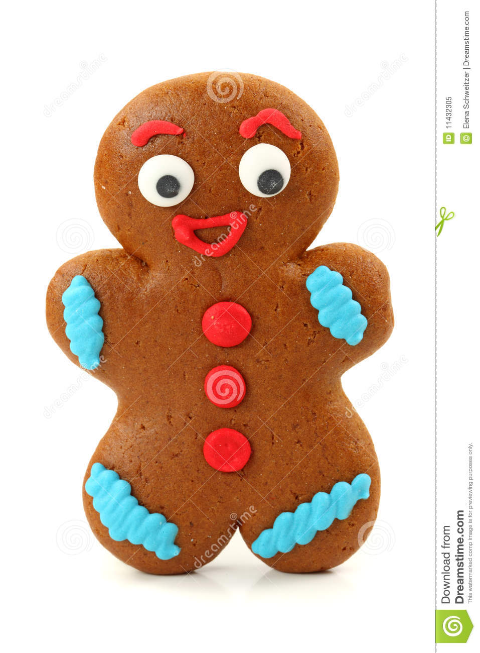 Gingerbread Man And Blank Card Stock Image Image 11432305
