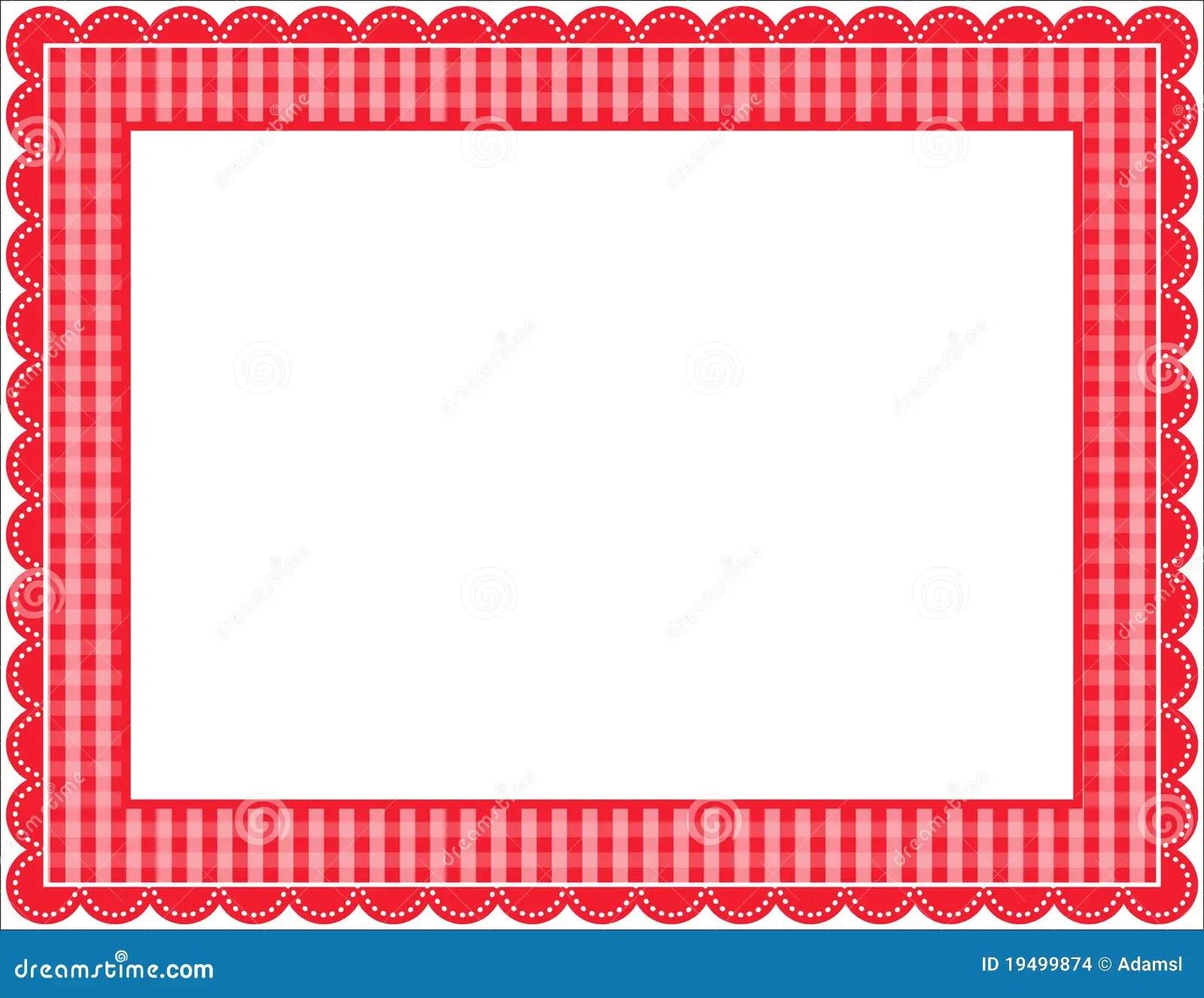 Gingham Frame Stock Vector Illustration Of Checkered