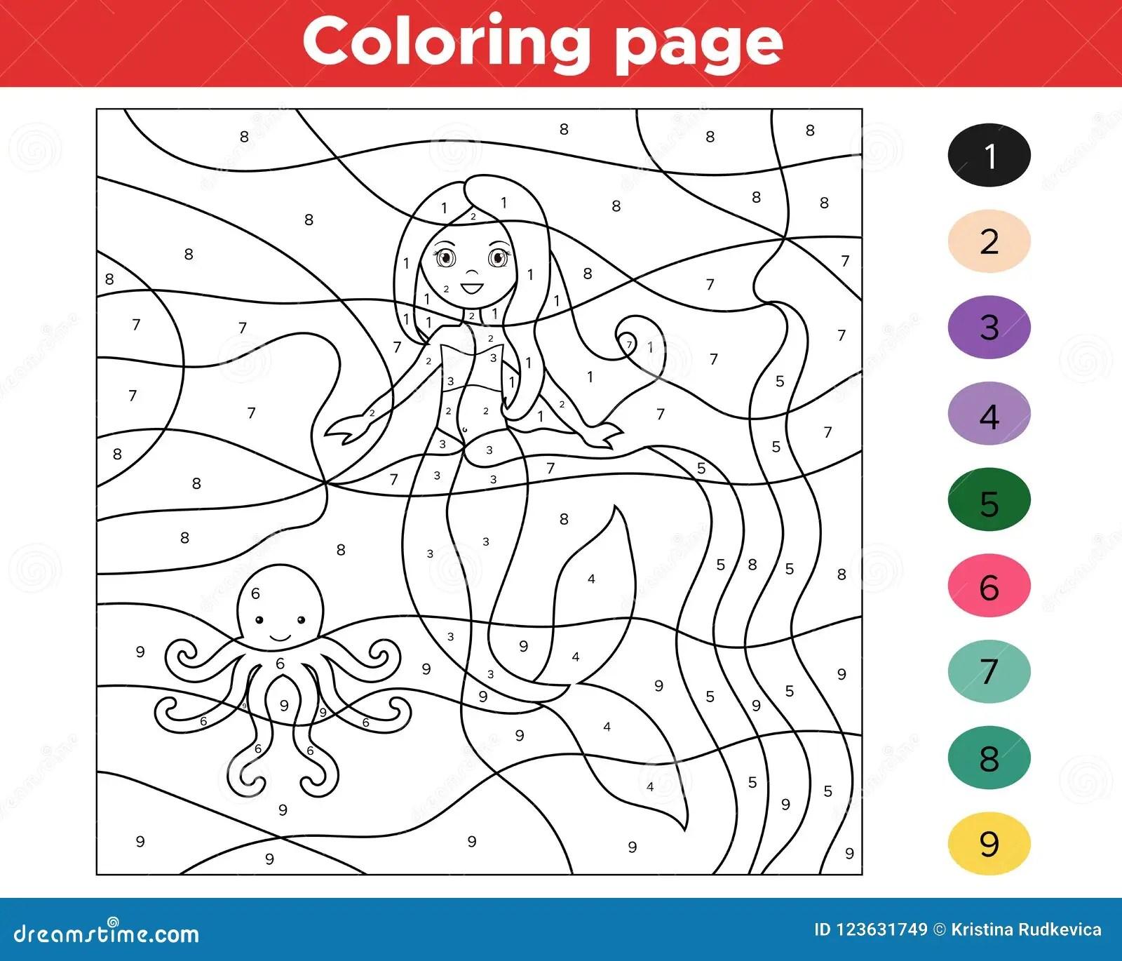 Gioco Educativo Per I Bambini Colore Dai Numeri