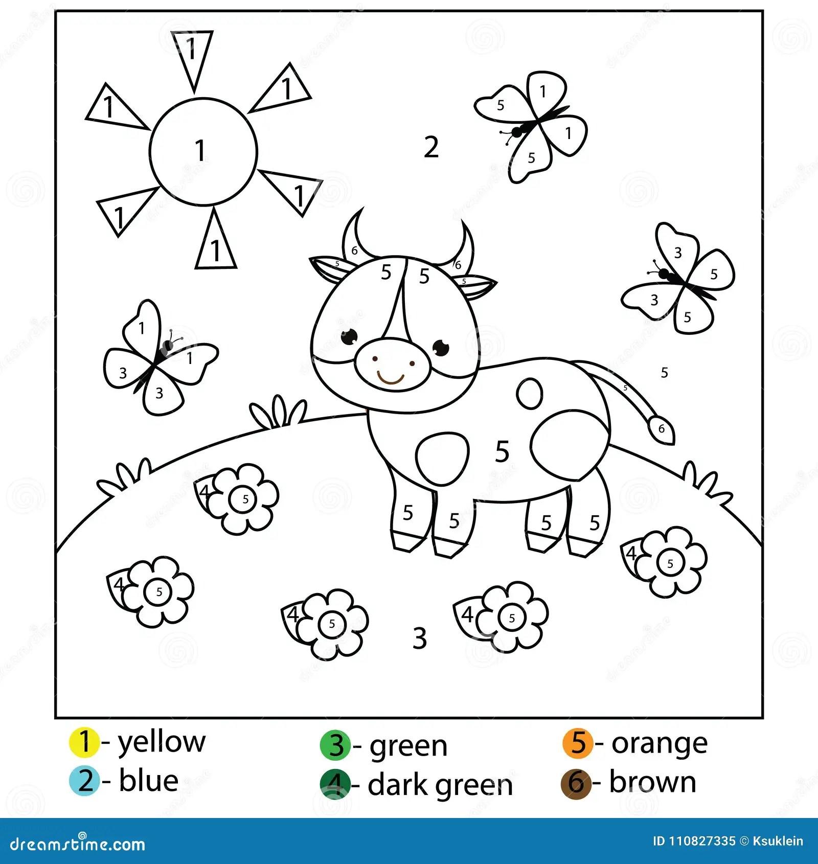 Gioco Educativo Per I Bambini Ed I Bambini Colore Dai