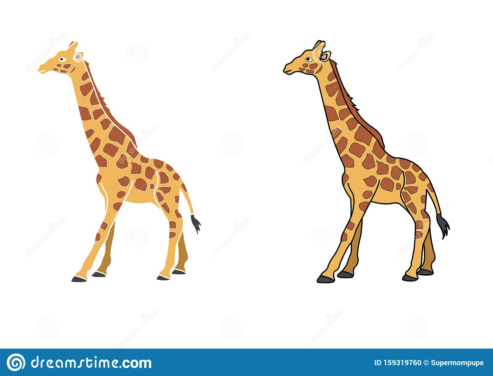 Giraffe Cartoon For Kids Colored Giraffe Cartoon Or