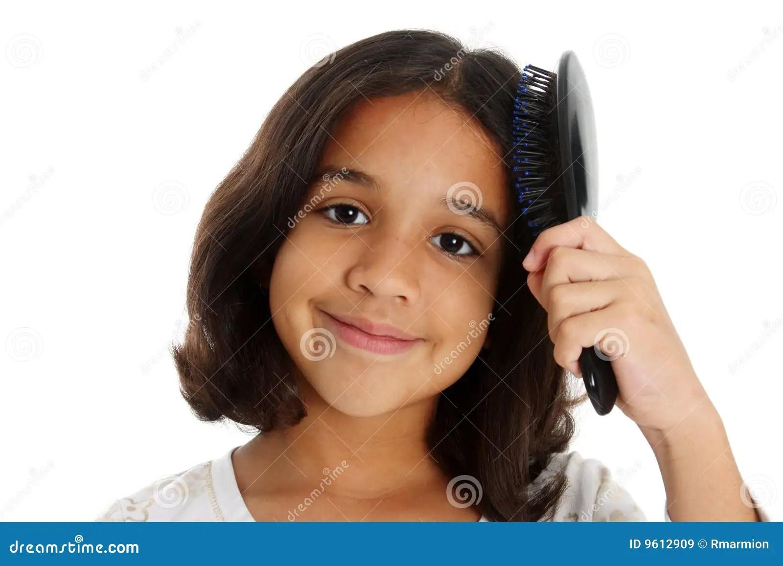 Girl Brushing Hair Stock Image Image Of Children Person