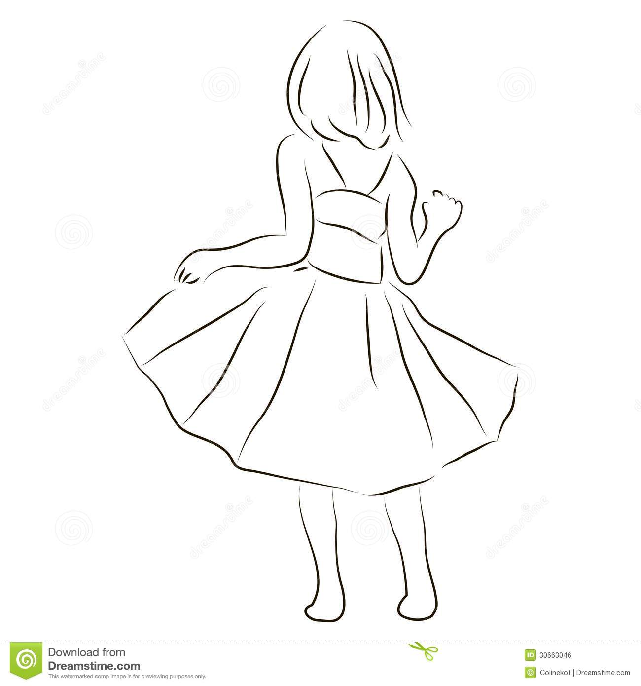 Girl In A Dress Royalty Free Stock Image