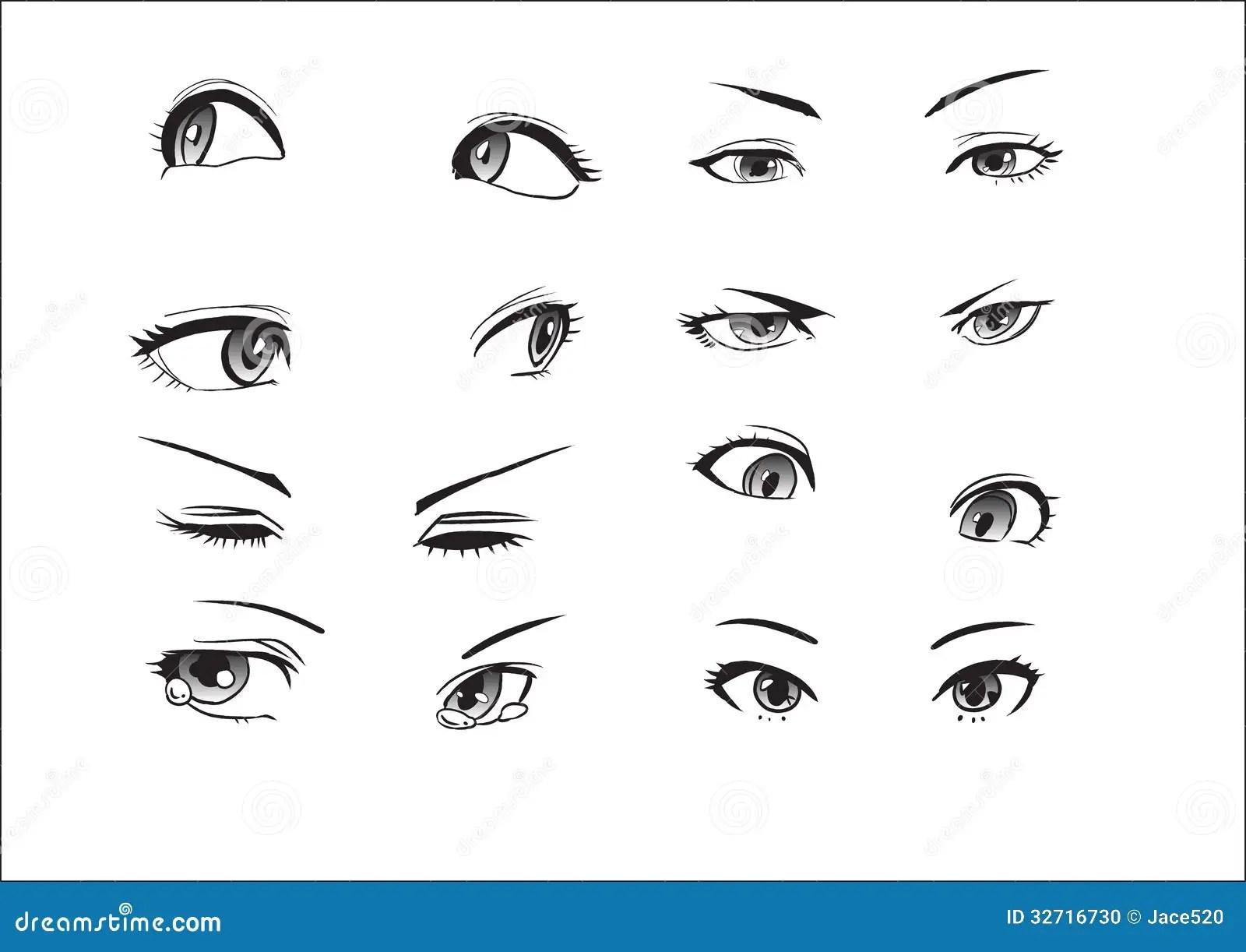 Girl Eyes Emotions Stock Photo