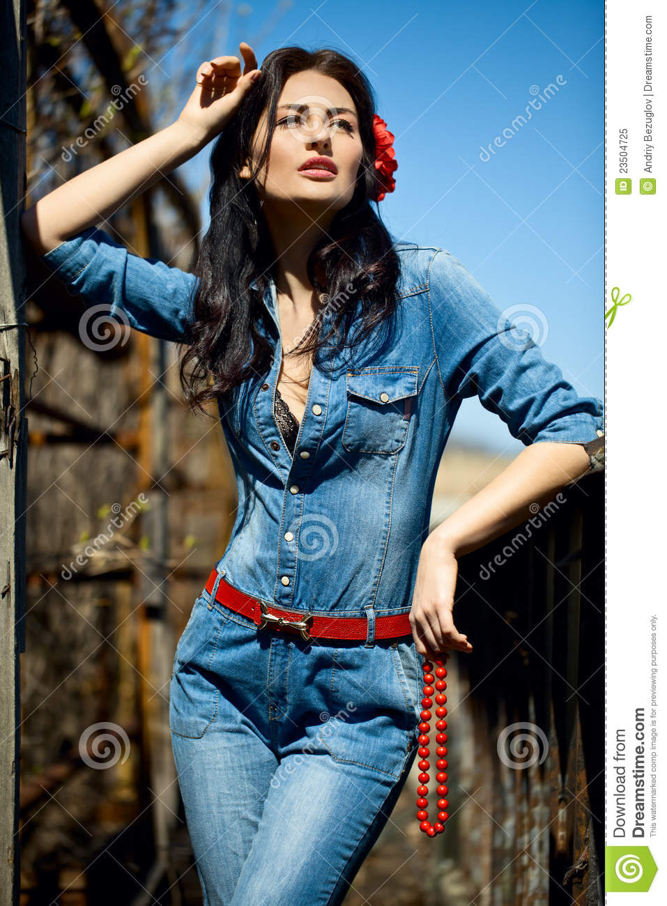 Girl In Jumpsuit Royalty Free Stock Photo Image 23504725
