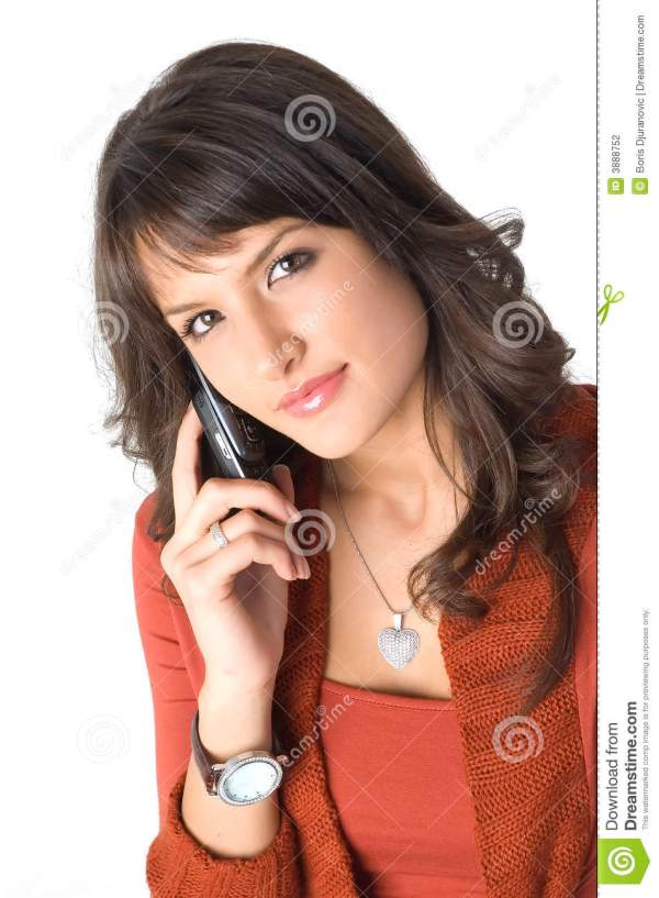 Girl with mobile phone stock photo Image of model