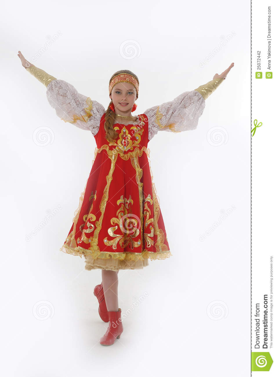 Girl In Russian Dancing Costume Stock Photography Image