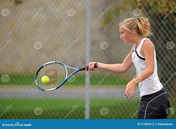 Girls High School Tennis Editorial Photography Image