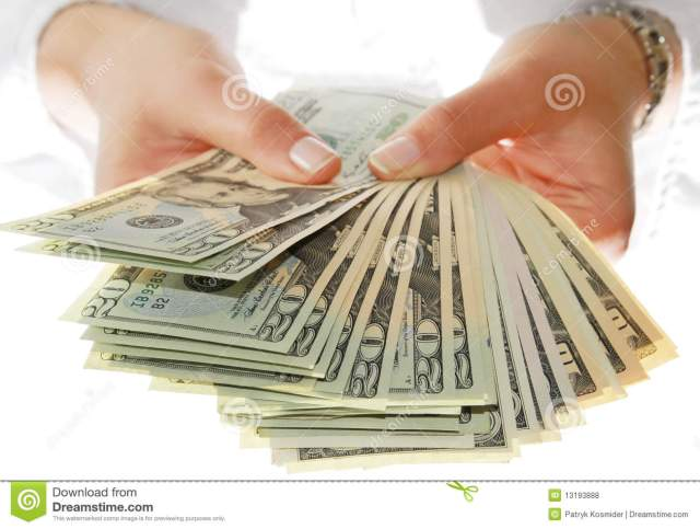 Give me money stock photo. Image of isolated, cash, give ...