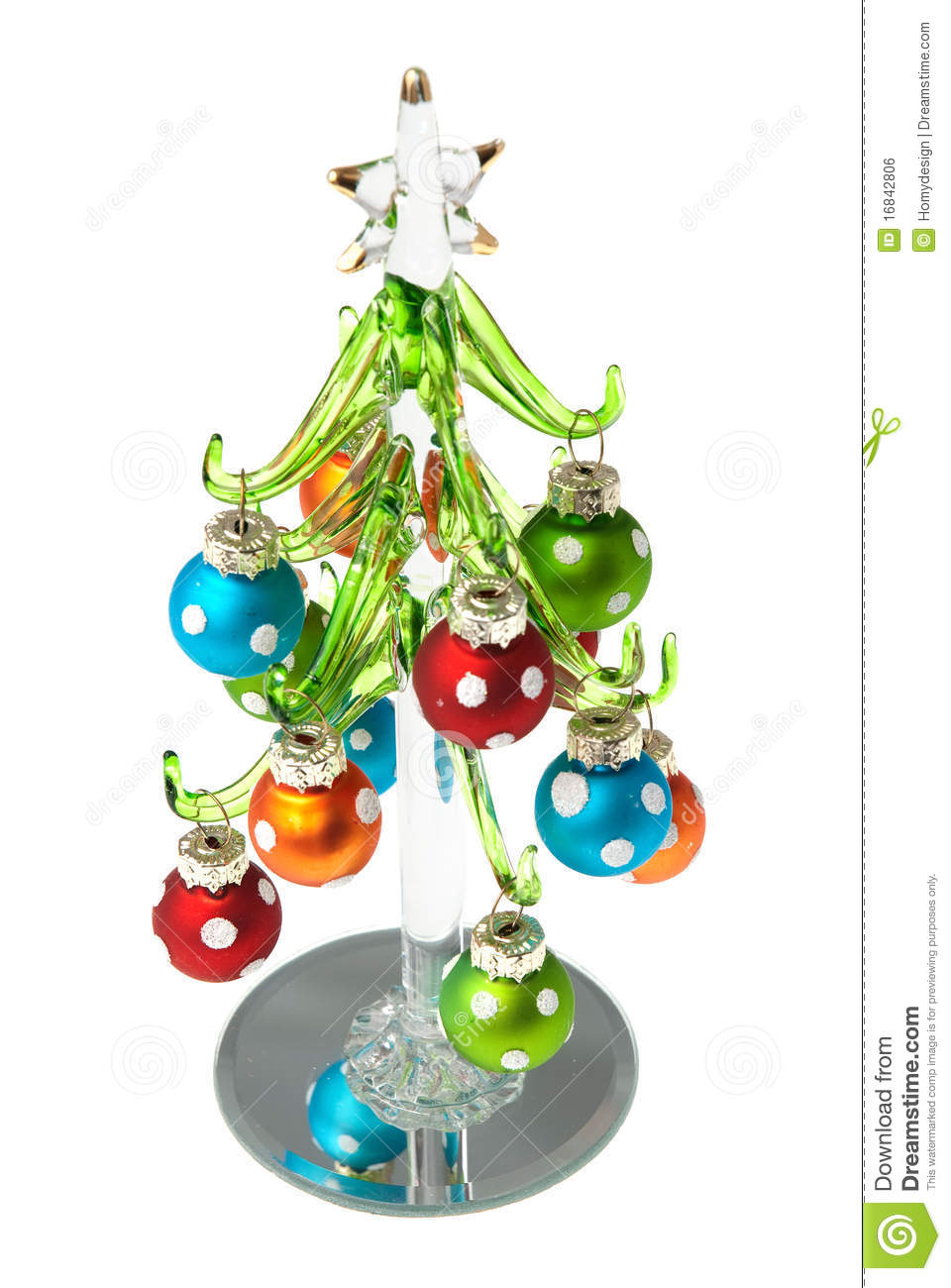 Glass Christmas Tree Stock Photo Image Of Gift Decorate