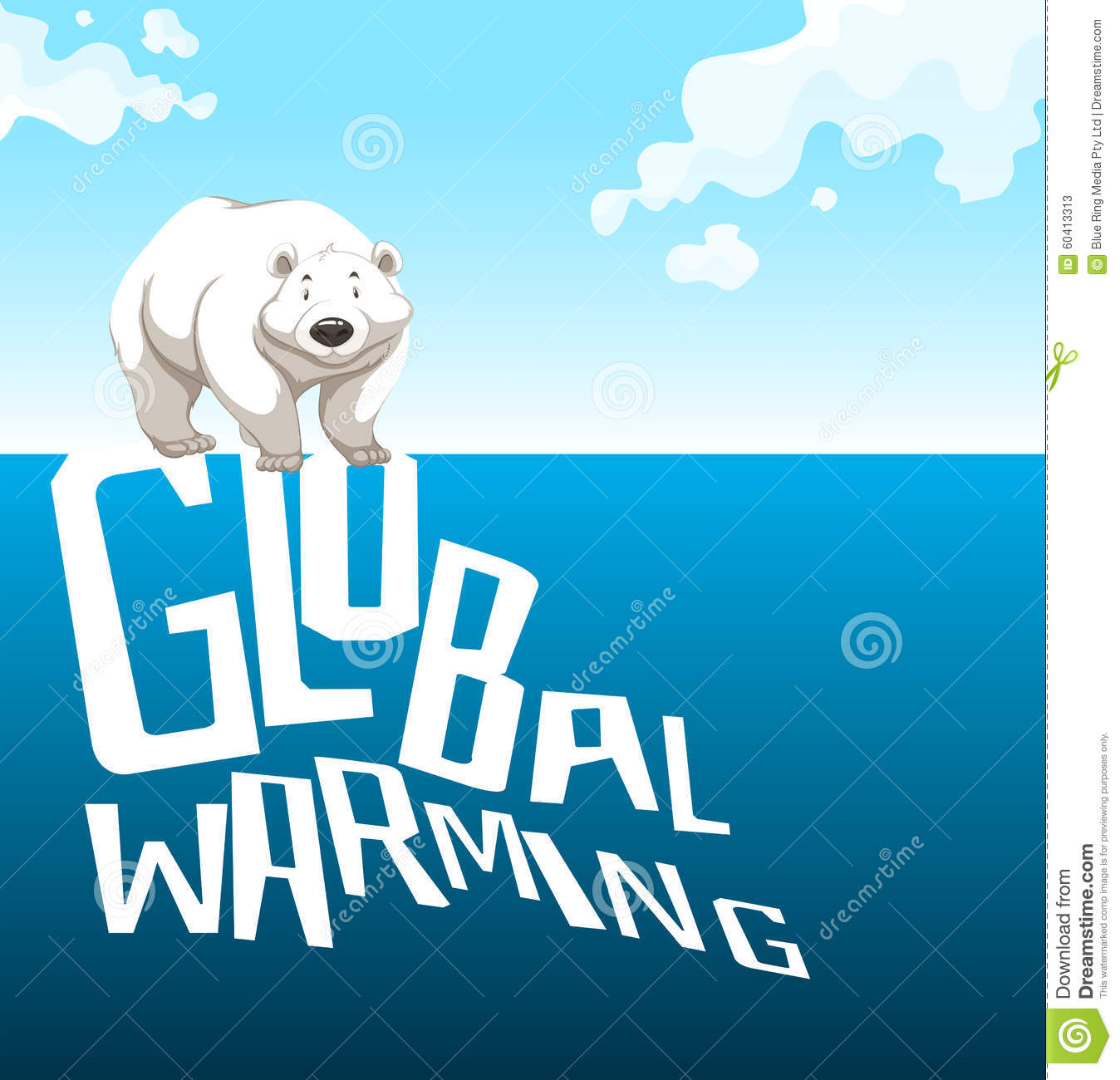 Polar Bear And Global Warming Clip Art Cliparts