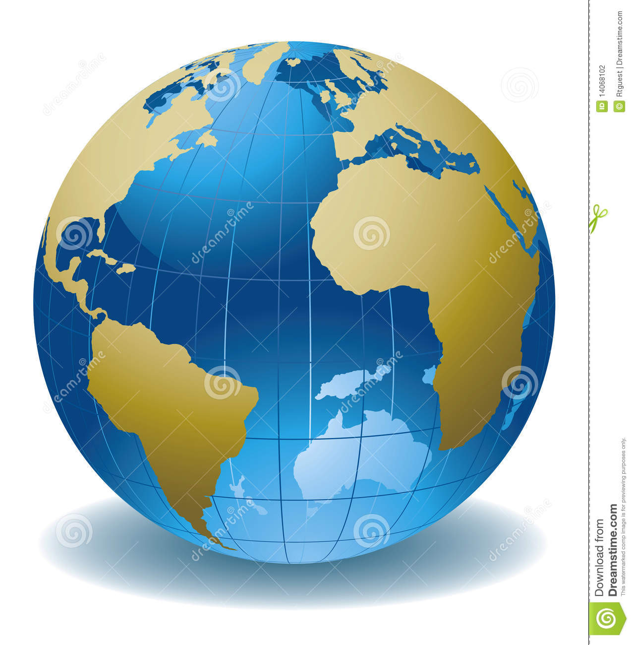 Globe Of The World Stock Vector Illustration Of Continent
