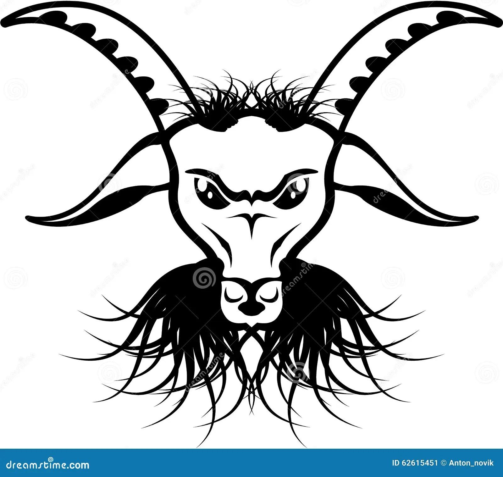 Goat Satan Devil Evil Vector Stock Vector
