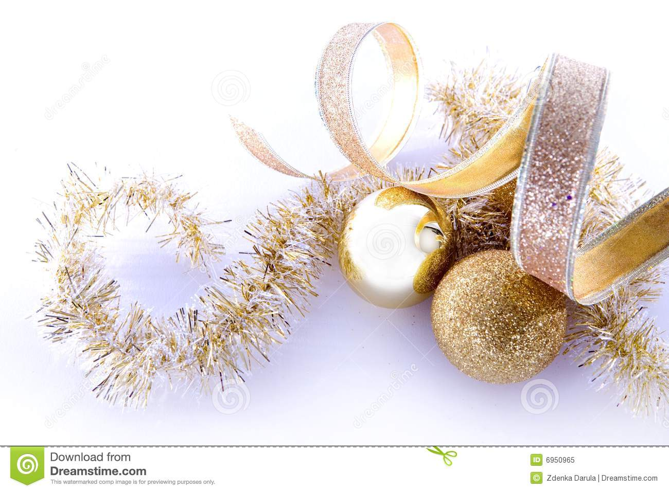 Gold Christmas Decorations Stock Image Image Of Ornaments