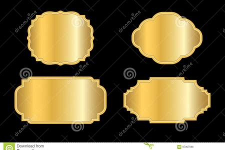 Gold frames simple style stock vector  Illustration of christmas     Beautiful simple golden design  Vintage style decorative border  isolated  on black background  Deco elegant object  Empty copy space for decoration   photo