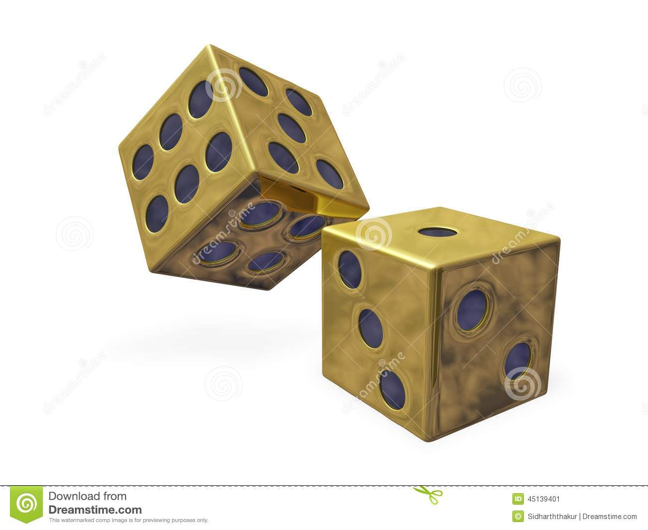 Gold Rolling Dice Stock Illustration Image Of Dice