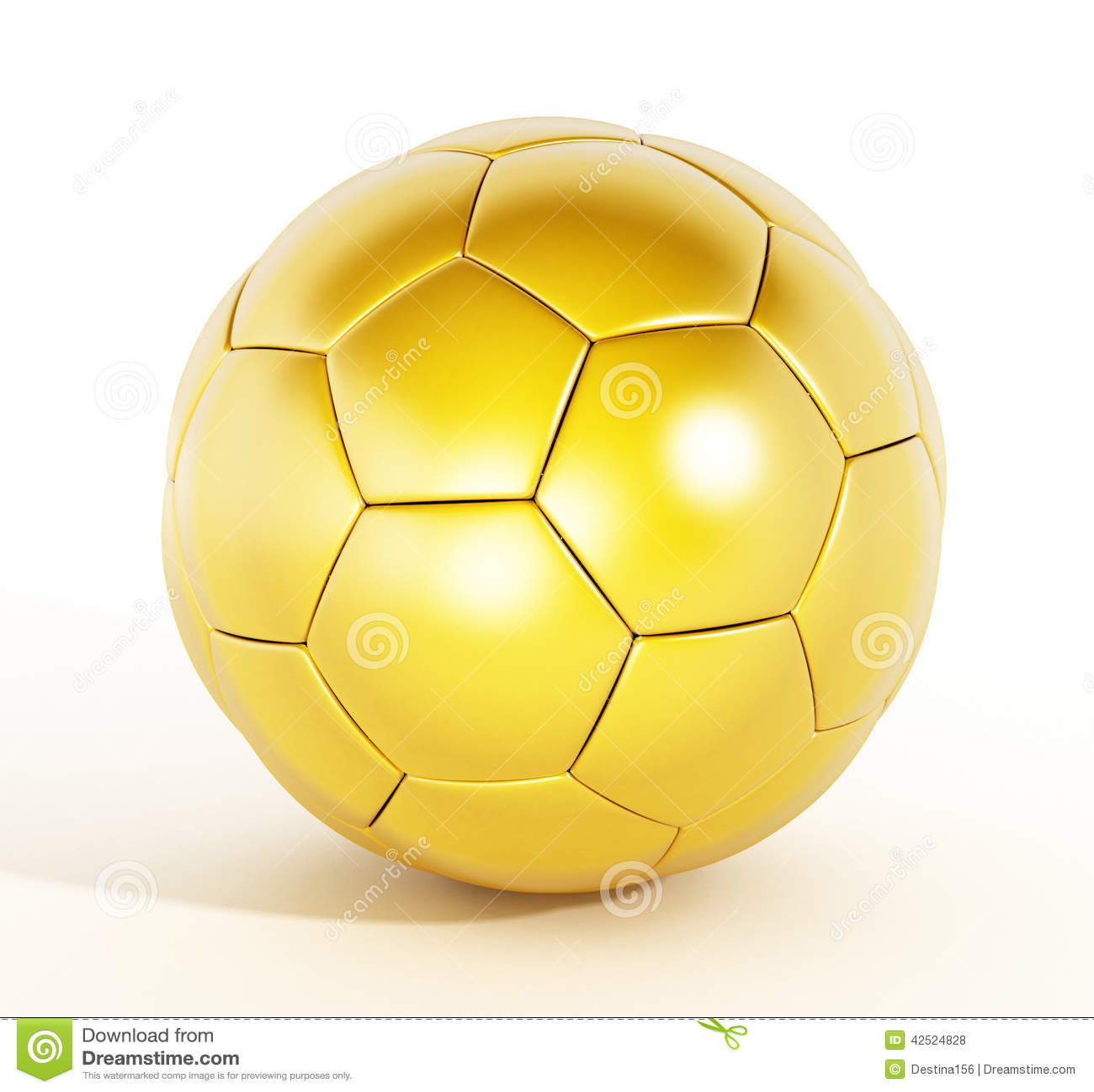 Gold Soccer Ball Stock Illustration Illustration Of