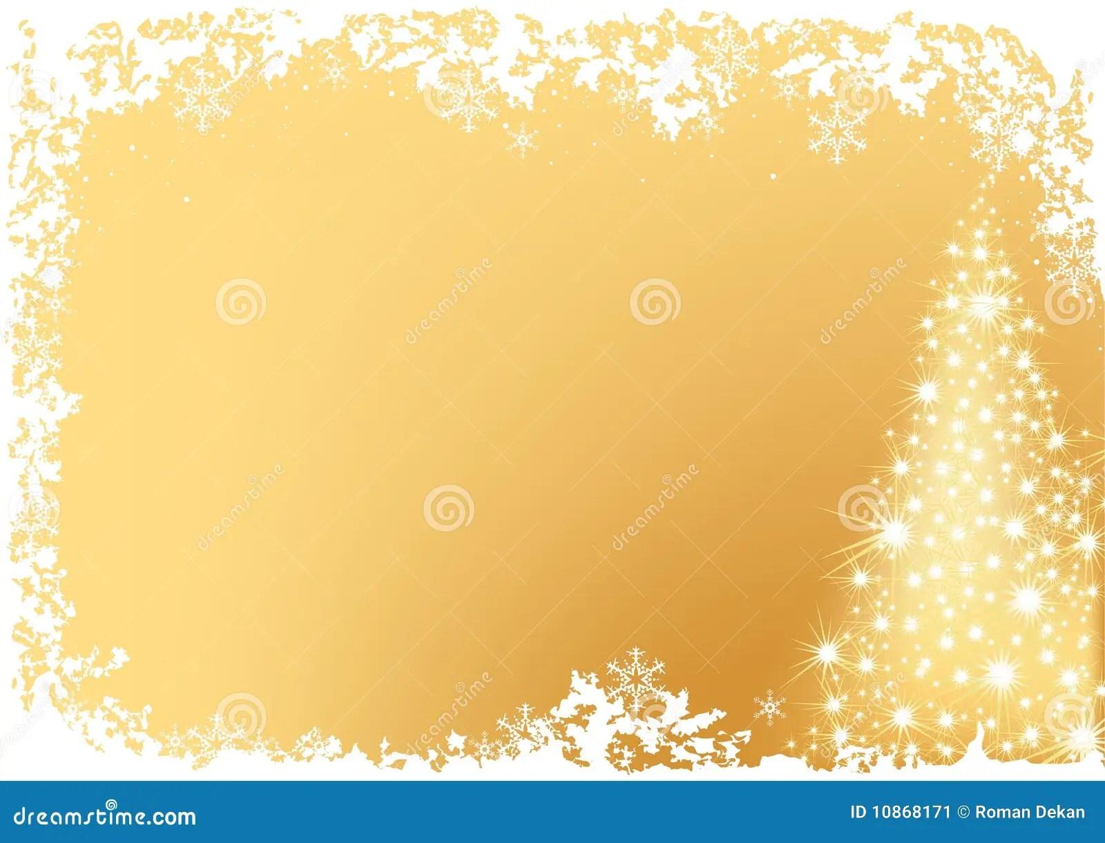 Golden Abstract Christmas Tree Stock Image Image 10868171