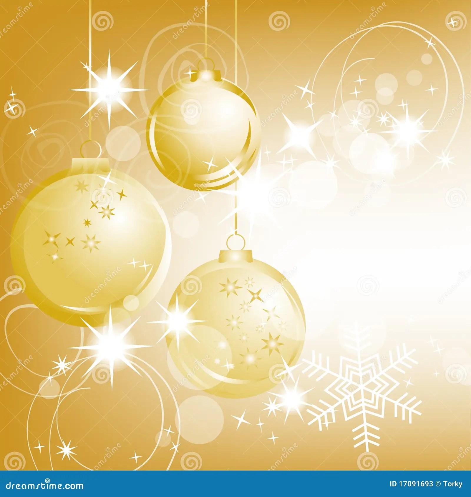 Golden Christmas Background Stock Photos Image 17091693