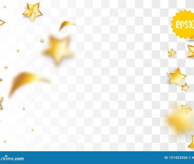 Golden Holiday Star Confetti Random Falling