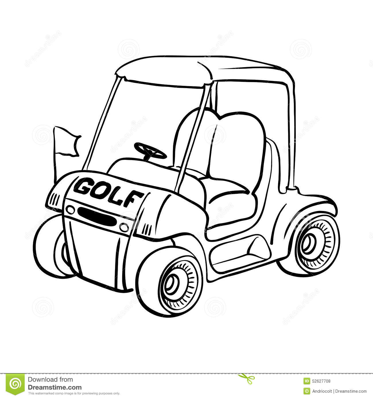 Golf Cart Stock Vector Illustration Of Golfing Motorized