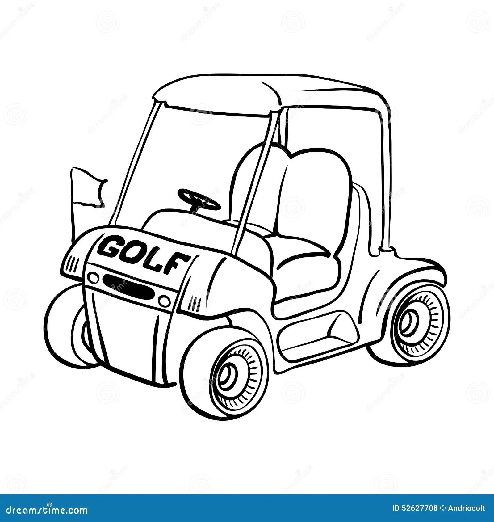 Golf Cart Stock Vector
