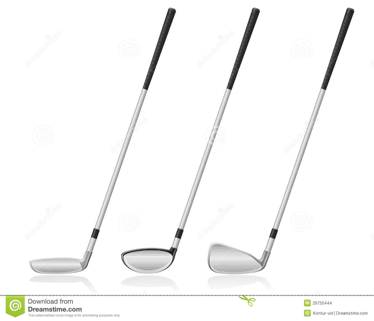 Golf Club Vector Illustration Stock Vector