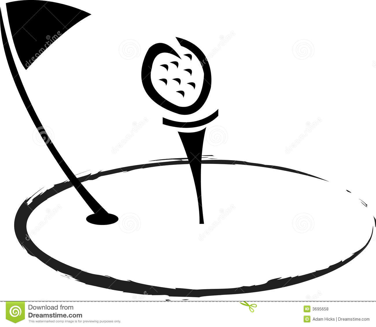 Golf Logo Royalty Free Stock Photos
