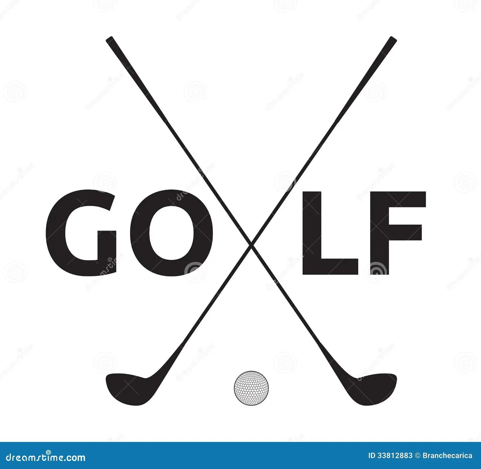 Golf Symbol Stock Vector Illustration Of Luxury