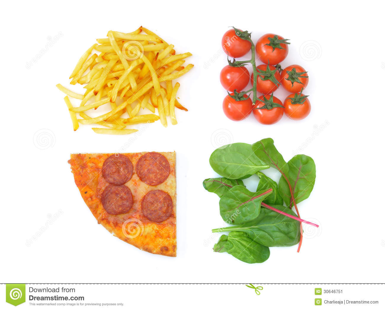 Good Bad Food Choices Stock Image Image Of Fries Fast