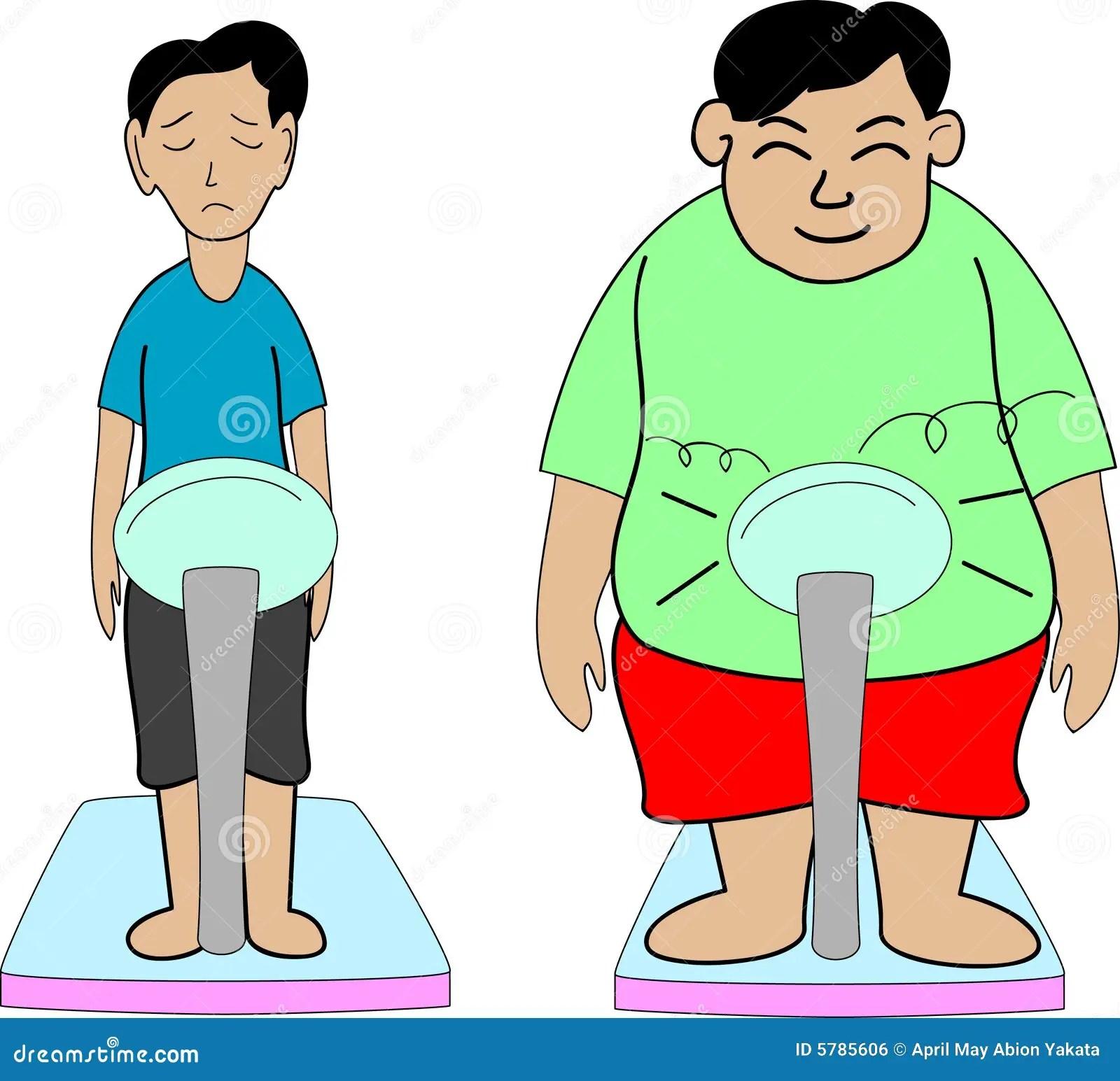 Gordo E Fino Ilustracao Do Vetor Ilustracao De Juventude