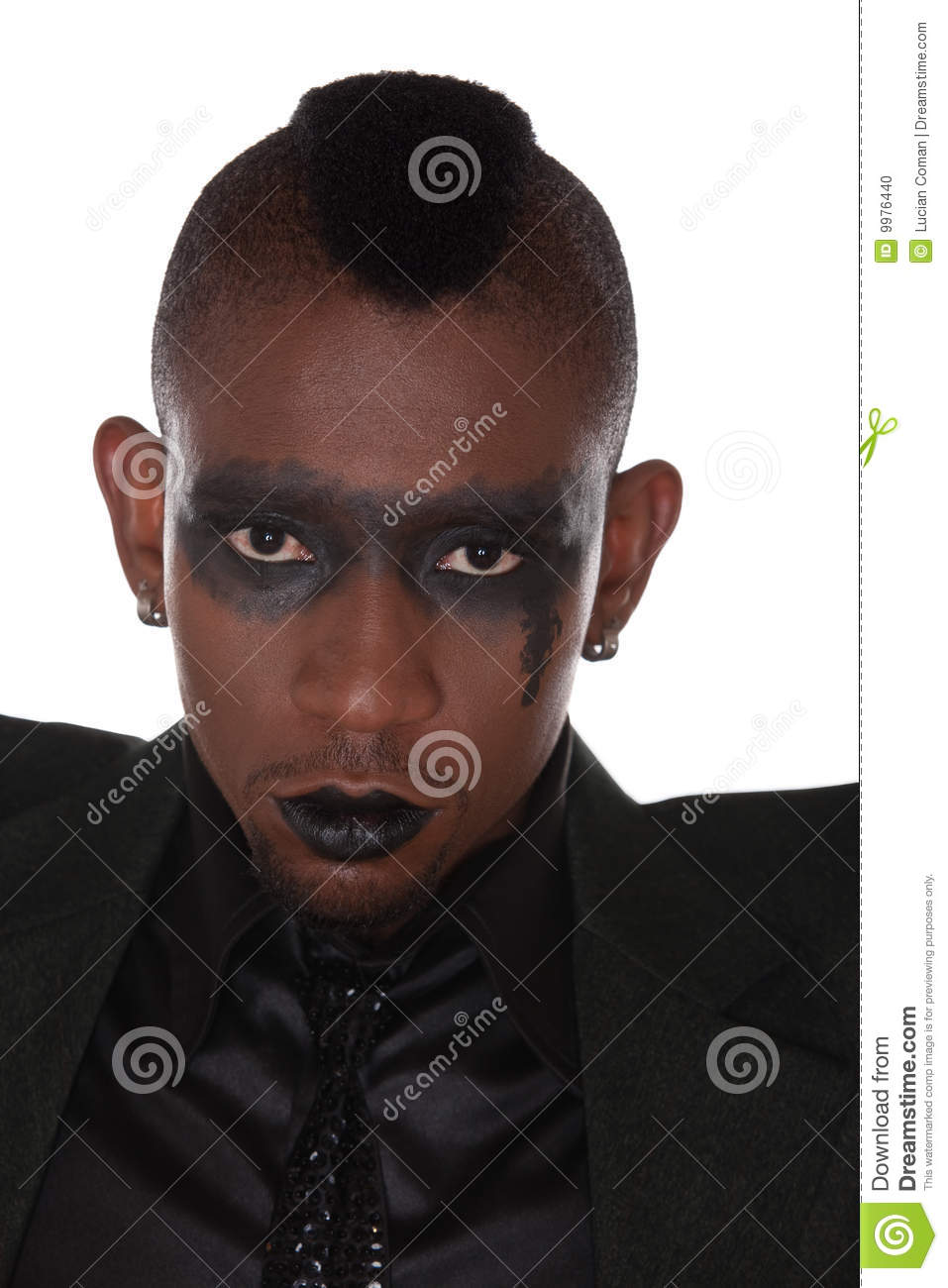 Gothic Look African Stock Photo Image 9976440